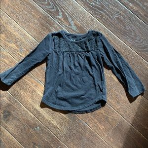 Jumping beans black swing top with lace